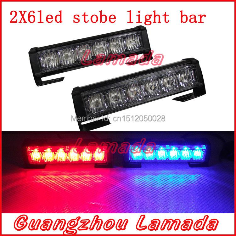 buy 2x6 led police strobe lights vehicle strobe light car warning. Black Bedroom Furniture Sets. Home Design Ideas