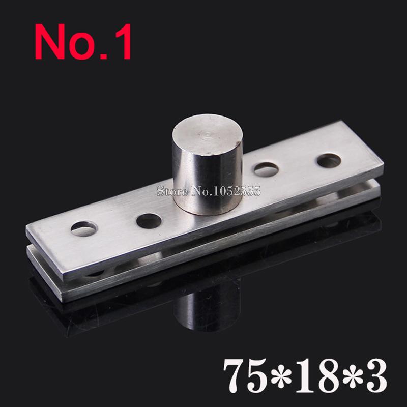 2PCS Stainless Steel 75*18*3.0mm Door Hinges Upper and Lower Hinge 360 Degree Rotating Door Pivot Hinges K185(China (Mainland))