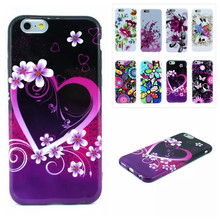 Colorful Flowers Owl Painted Custom DIY TPU Soft mobile cell phone case for Apple iphone 6 4.7″ Free shipping