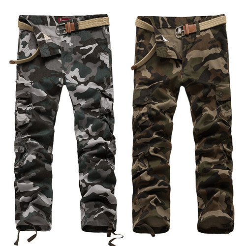 2015 brand top men work pants men's casual pants overalls Multi-Pockets Utility Military Army Style Men Bottoms