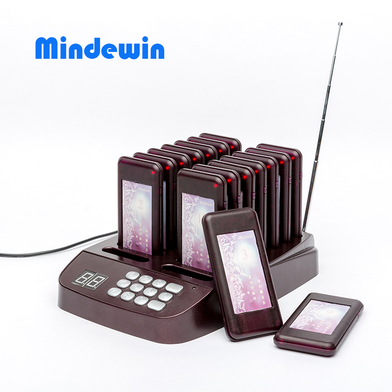 Mindewin High Quality Design Restaurant Wireless Pager System 16 Call Coaster Paging Queuing System Restaurant Equipments(China (Mainland))