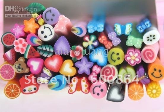 3D nail art 200pcs/lot flower nail decoration nail art fruit nail decoration polymer clay stick