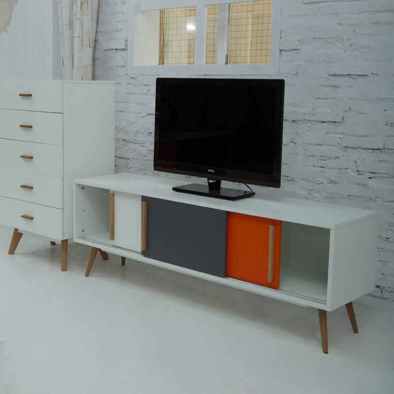 Tv Kast Slaapkamer: Tv kast slaapkamer lift teak met open vakken en ...