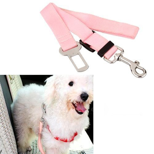 New Portable Hot Sky Blue Pink Black Red Car Vehicle Auto Seat Safety Safe Belt Seatbelt Travel for Dog Pet Cat Free Shipping(China (Mainland))