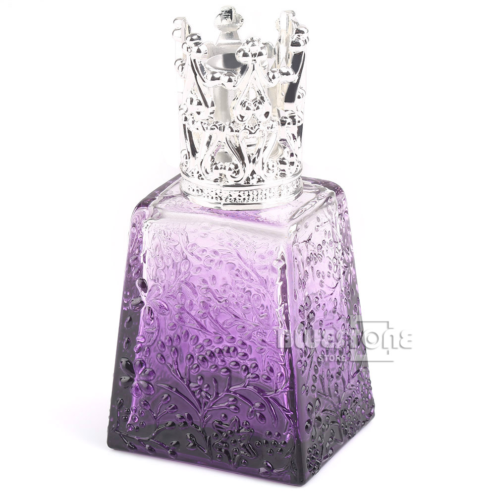 100ML Crystal Purple Perfume Bottle Oil Lamp Silver Fitting Travel Gifts(China (Mainland))