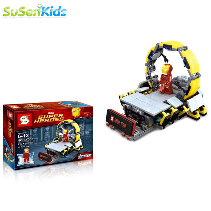 1pcs/lot Iron Man Underground laboratory Ring Resurrection Sets Kid Baby Toy Mini Figure Building Blocks Sets Model Minifigures<br><br>Aliexpress