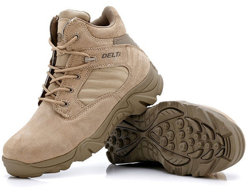 Men Military Boots Forces tactical desert Combat Boots Outdoor Hiking Shoes Snow Boots Infantry Winter Special Boots(China (Mainland))
