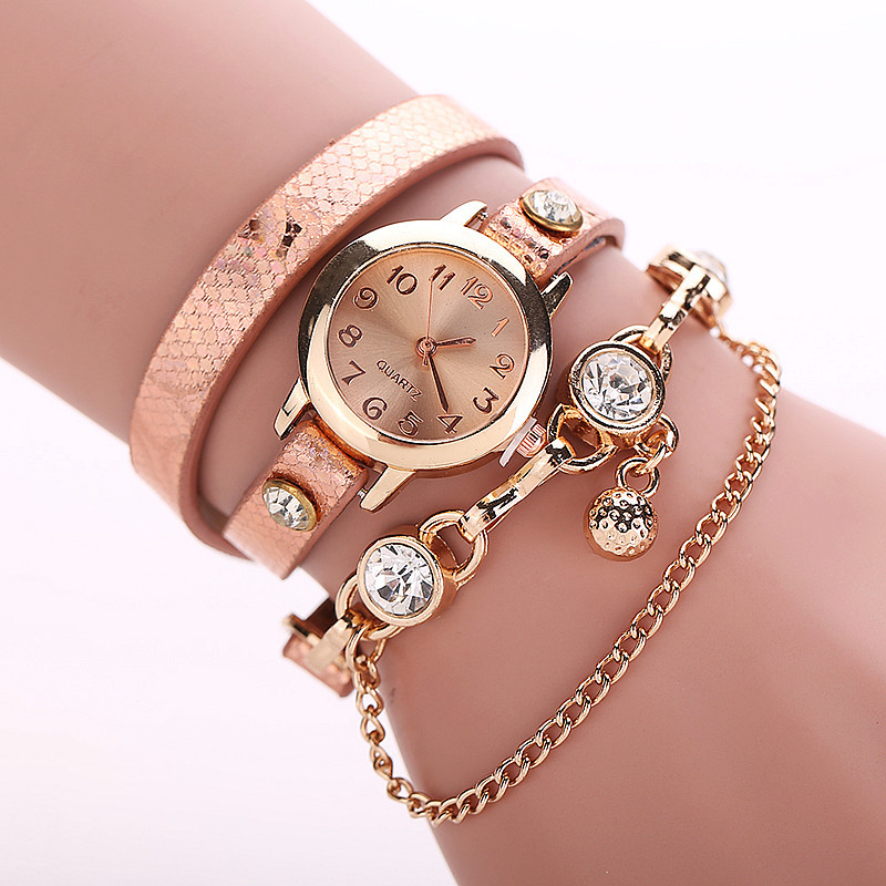 Buy Women Rhinestone Watches Gold Quartz Watch Ladies ...