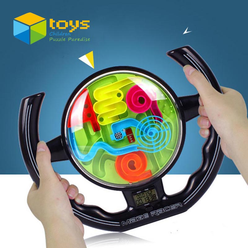 3D Ball Maze Perplexus Ball Puzzles Labyrinth Music Timing Steering Wheel Intellect Maze Ball Educational Toys for Children(China (Mainland))