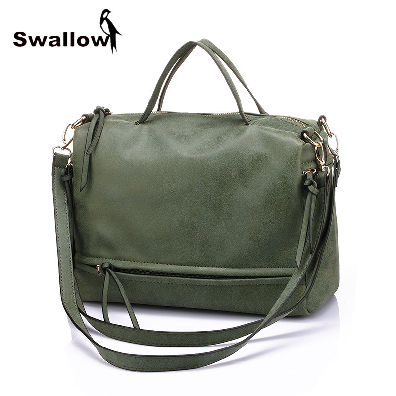 Army Green Women Shoulder Bags Famous Brand 2016 Motorcycle Nubuck Matte Bags Handbags Women Famous Brands PU Leather Shopping(China (Mainland))