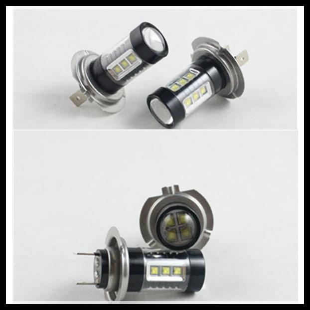 2pcs/lot car h7 led fog light 80w 16 led smd auto led daytime running lights fog lamp 360 degree drl bulbs dc12v~24v<br><br>Aliexpress