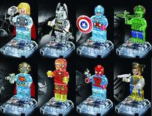 Avengers Marvel DC Super Hero star wars minifigures Building Blocks bricks kids Toys Superman Batman spiderman lego compatible(China (Mainland))