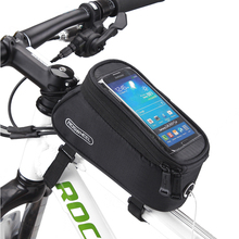HOT!! ROSWHEEL MTB Road Bicycle Bike Bag 7 Colors Touchscreen Cycling Top Front Tube Frame Saddle Bag For 4.2/4.8/5.5 Phone Case