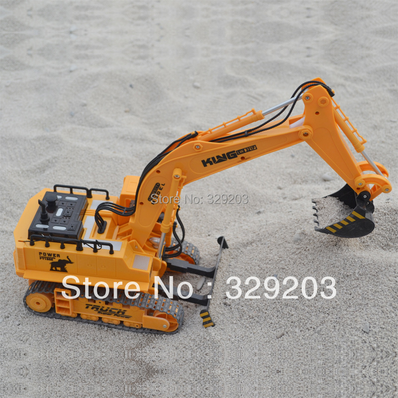 Electric wireless remote control excavator model remote control car charge toy excavator remote control engineering truck(China (Mainland))