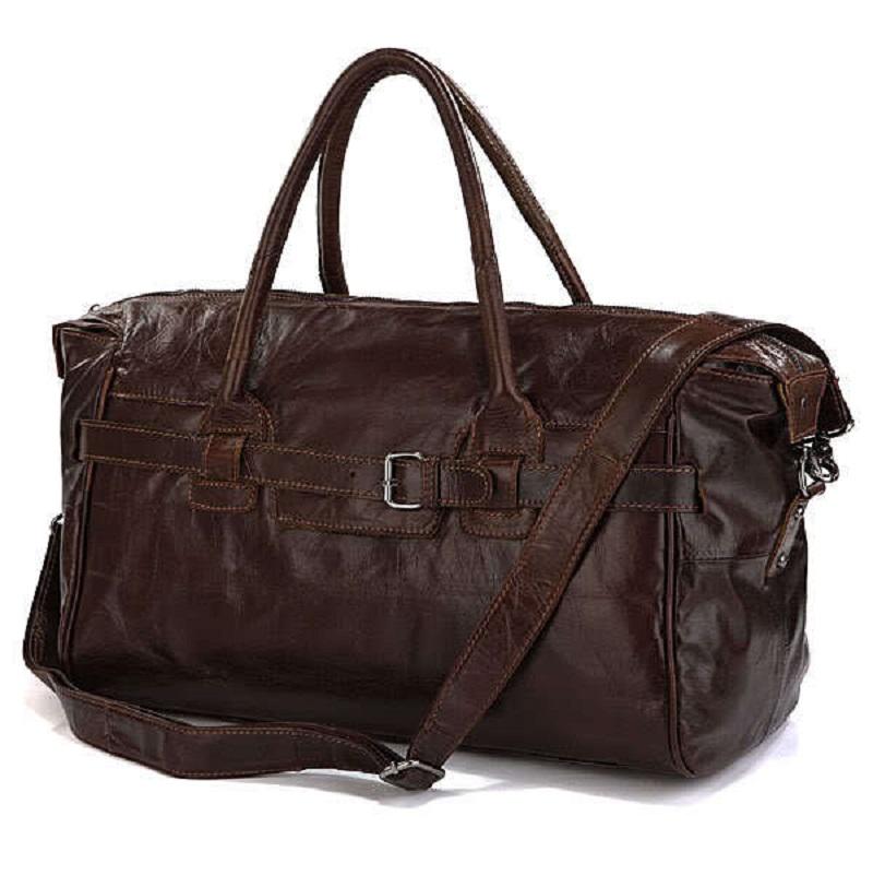 2016 New Arrival 100% Excellent Genuine Leather Luggage Bag Tote Bag Leather Travel Bag Shoulder Bag Handbags 7079(China (Mainland))