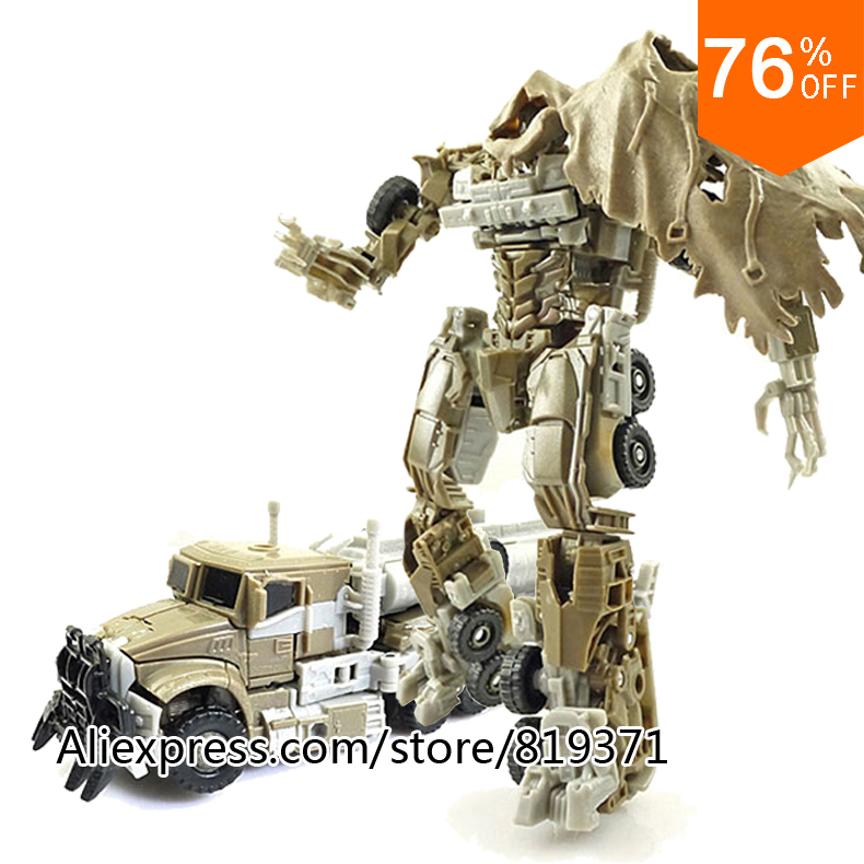 Hot Anime Megatron Plastic PVC Action Figure 19x21cm Transformation Arduino Robot Classic Cars Toys For 4 Year Old Boys Sets(China (Mainland))