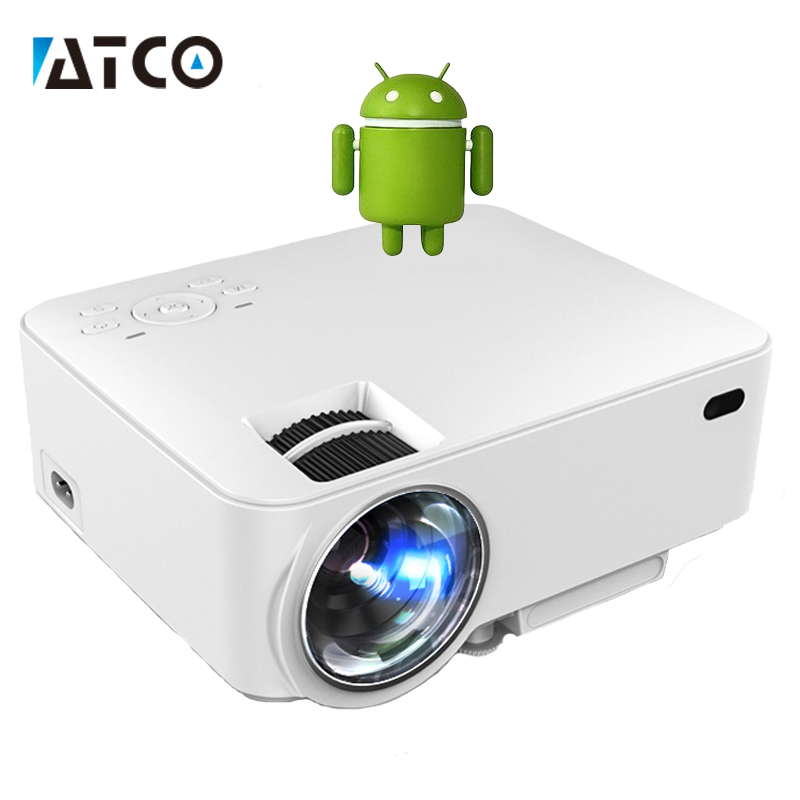 Ct100 hd led smart projector wifi android 4 4 bluetooth portable pocket mini proyector beamer for Small bluetooth projector