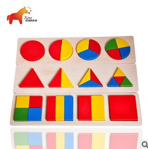 One Sale High Quality Pine Wood Children Early Education Traditional Toys Wooden Toy Kid's Colored Shapes Board(China (Mainland))