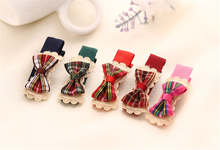 Fashion Cute Butterfly Bowknot Bow Snaps Striped Hair Clips Slides Girl Kids Clip Baby Gift Hairpins Boutique Barrette(6Pcs/Lot)