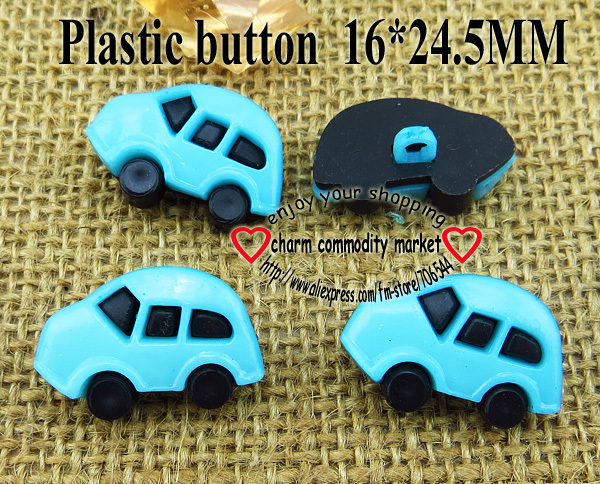 200PCS ice blue car plastic buttons for sewing clothes accessory wholesale P-081-2(China (Mainland))