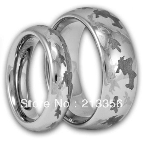 2PCS FREE SHIPPING!USA WHOLESALES CHEAP PRICE BRAZIL RUSSIA CANADA UK HOT SALES SILVER DOME CAMO BRIDAL TUNGSTEN WEDDING RING(China (Mainland))