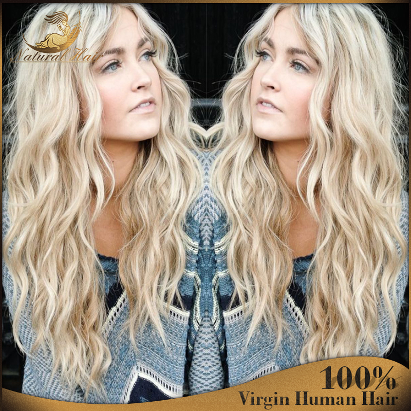 Blonde Lace Wig Virgin Blonde Hair Wig Brazilian Full Lace Blonde Human Hair Wigs #60 Blonde Human Hair Full Lace Wig<br><br>Aliexpress