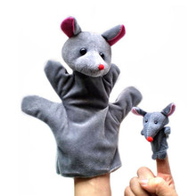 2PCS (1 Big+1 Small) Lovely Kids Baby Plush Toys Finger Puppet Talking Props Animals Hand Puppets (China (Mainland))