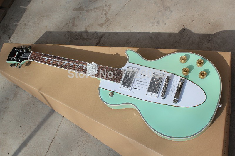 Chinese musical Instruments Factory custom 2015 new Rosewood fingerboard Light green electric guitar 1960 Corvette guitar 218(China (Mainland))