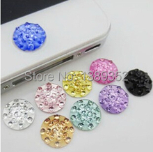 10pcs/lot  Crystal Diamond Home Button Stickers for iPhone 5 4 4s 4G iPad iTouch DIY cell phone decoration(China (Mainland))