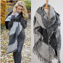 Fashion Top Blanket Scarf Female Cashmere Pashmina & Wool Scarf Shawl 2014 New Winter Warm Scarves Cape Free Shipping lxy136(China (Mainland))