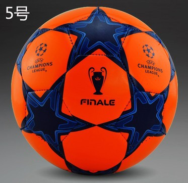 A++ New 2015 free shipping Size 5 PU football ball Champions League train and match soccer ball five styles soccer(China (Mainland))