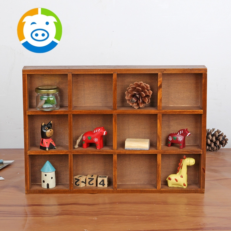 Cosmetic Makeup Organizer Jewelry Wooden Table Storage Box-in Storage ...