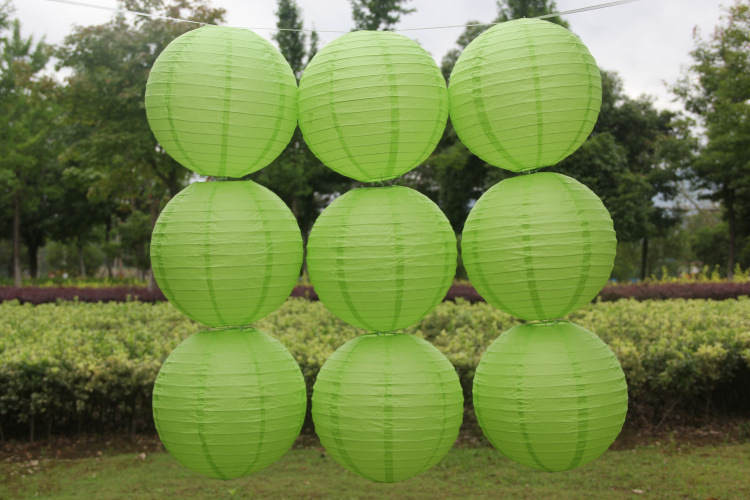 10pcs 6 8-10-12-14 16 Inch Round Chinese Lantern light green Paper Lanterns For Wedding/holiday/festival/home Party Decorations(China (Mainland))