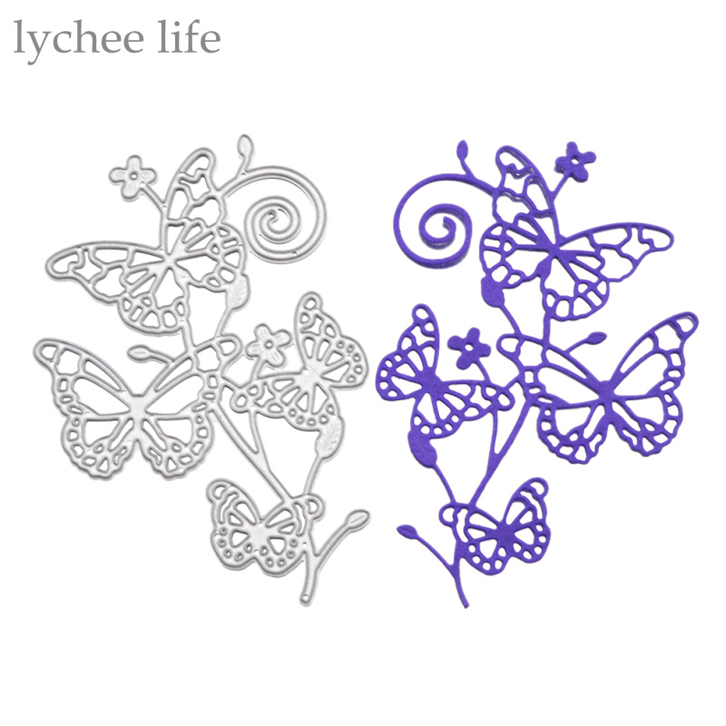 Four Butterfly Metal Cutting Dies Stencils DIY Scrapbooking Album Decorative Embossing Folder Paper Cards Die Cutting Template