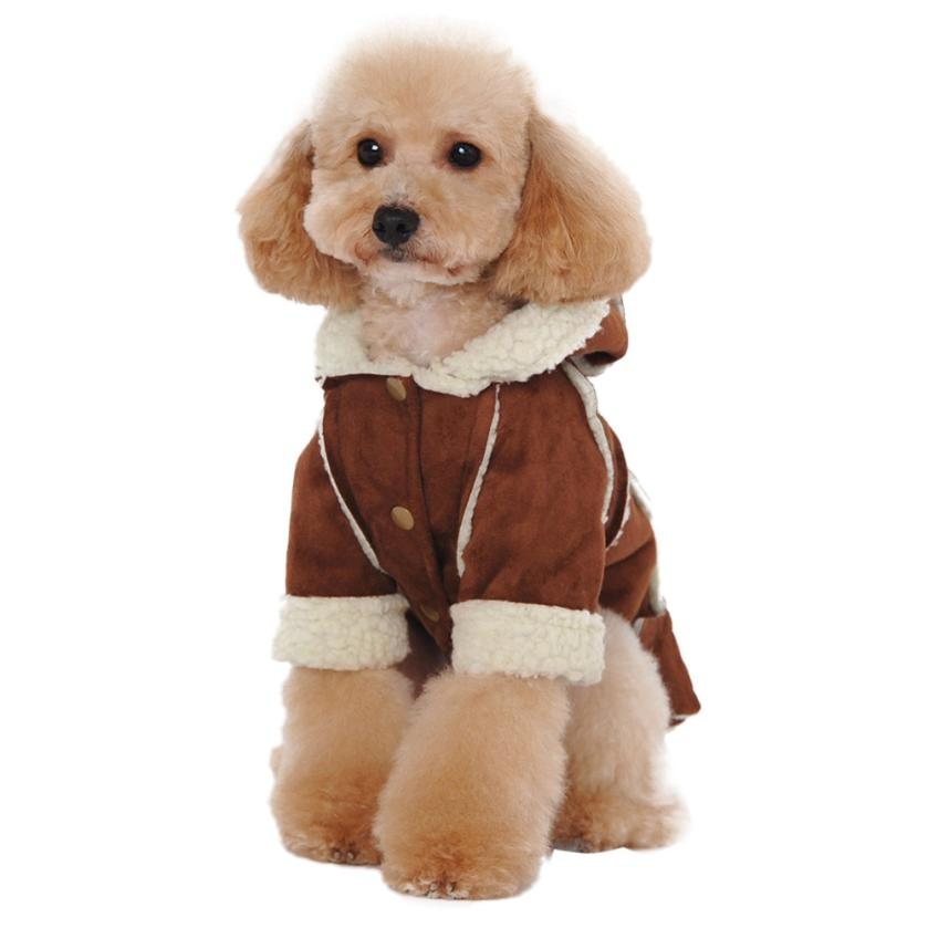 Dog Cloth Winter Warmer Suede Fabric Dog Clothes Winter Warm clothing For dogs Jacket Pet Dog Coat #2458(China (Mainland))