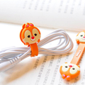 2 Pieces Cute Cartoon Anime Mobile Phone USB Cable Fastener Button Organizer Wire Protector Earphone Holder