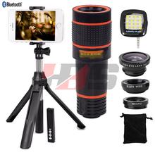 Buy Fisheye Wide Angle Macro Lentes 8X Zoom Lens Telescope Telephoto Lenses Tripod Monopod Shutter Xiaomi mi6 mi5c redmi note 3 for $19.40 in AliExpress store