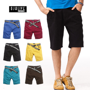 2014 male's casual short trousers man's shorts 6 colors bigger size Drop Shipping - A Roy's store