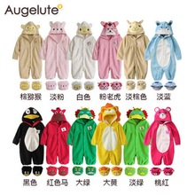 2016 New Spring Winter Baby body suits 3-18M Hooded body suits boy girls costume fleece cute animal style Jumpsuit baby 9 colors