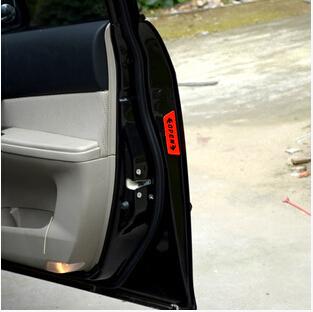 Car Door Open Warning Stickers for Honda CRV Accord Odeysey Crosstour FIT Jazz City Civic JADE Crider Spirior Ciimo Elysion
