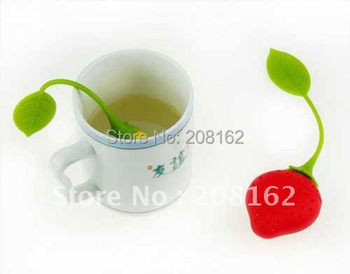 Strawberries Tea Bags Tea Strainers Silicone Teaspoon Filter Infuser Silica Gel Filtration ( Mini Order 10 Usd )