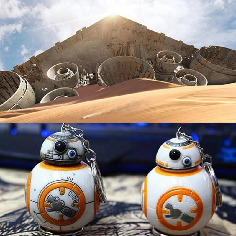 2 Styles 2.2 inch New Star Wars The Force Awakens BB8 BB-8 R2D2 Droid Robot Keychain Action Figure Stormtrooper Clone Strap Toys