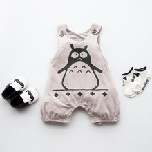 GREY penguin 100%Cotton Short Sleeve Clothing Similar Jumpsuit Printed Baby Boy Girl Bodysuits 2016 baby girl boy clothes