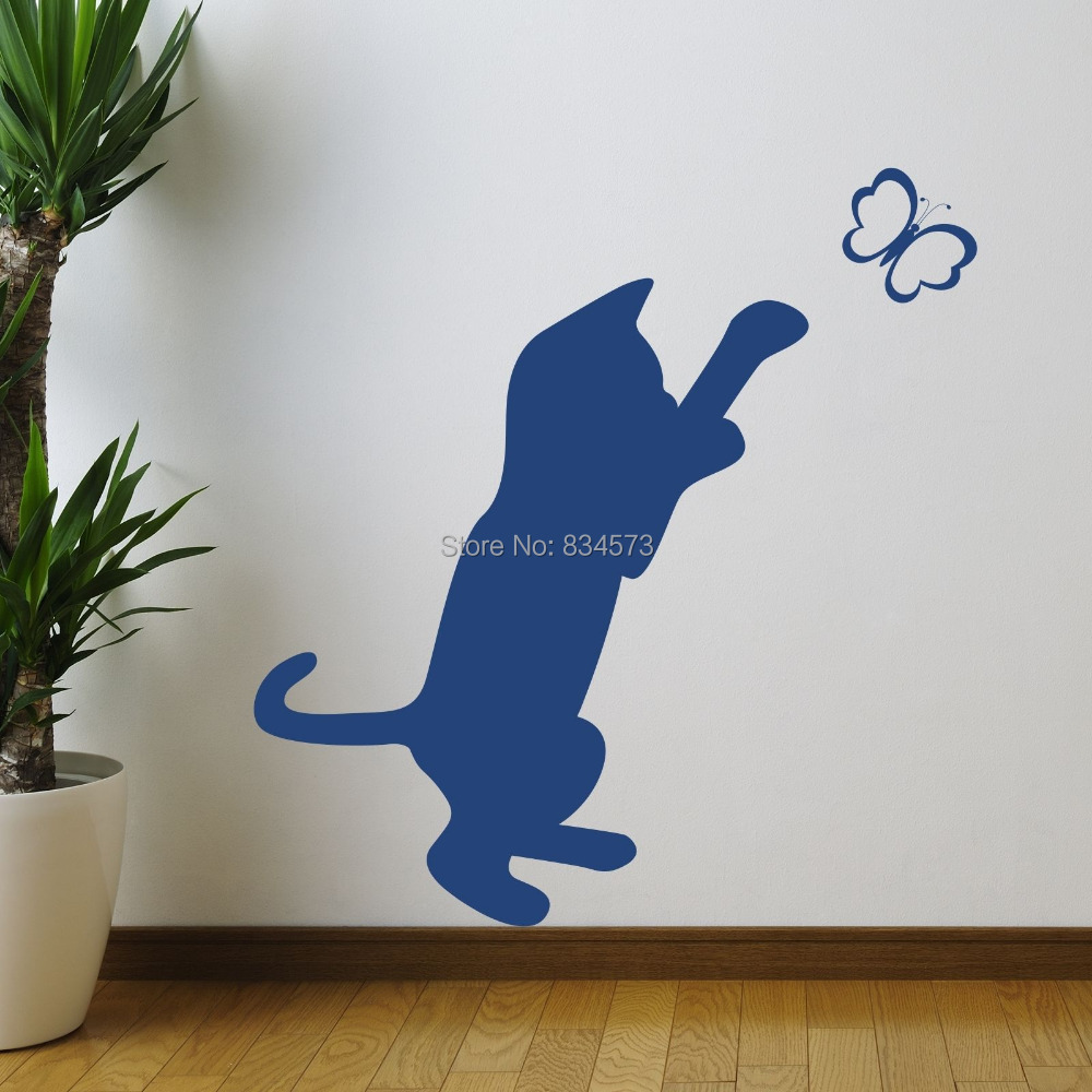 Silhouette wall art stickers wallpaper wall decals for Silhouette wall art