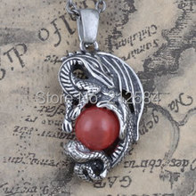 High Quality Gothic Evil Dragon Pendant Necklace, Fashion punk men women sweater chain necklace Jewelry Gift