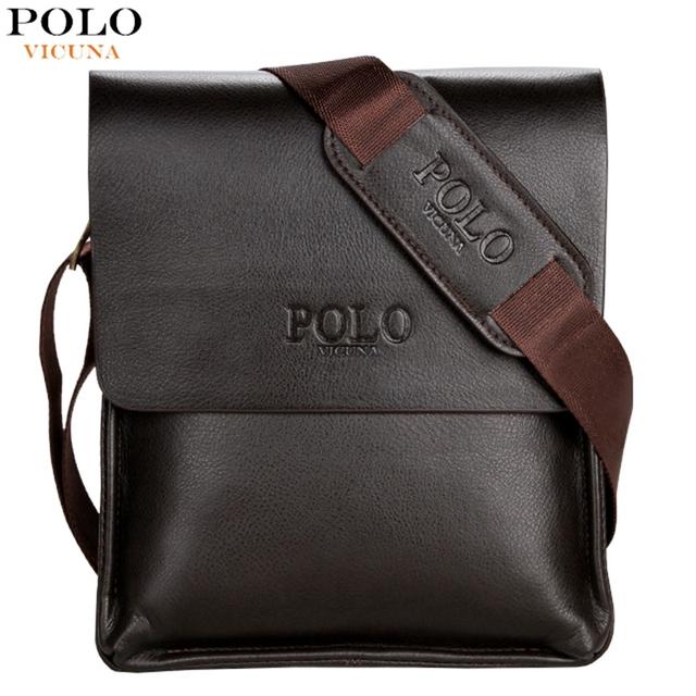Vicuna поло известный бренд италия кожа мужчины сумки свободного покроя деловой человек ...