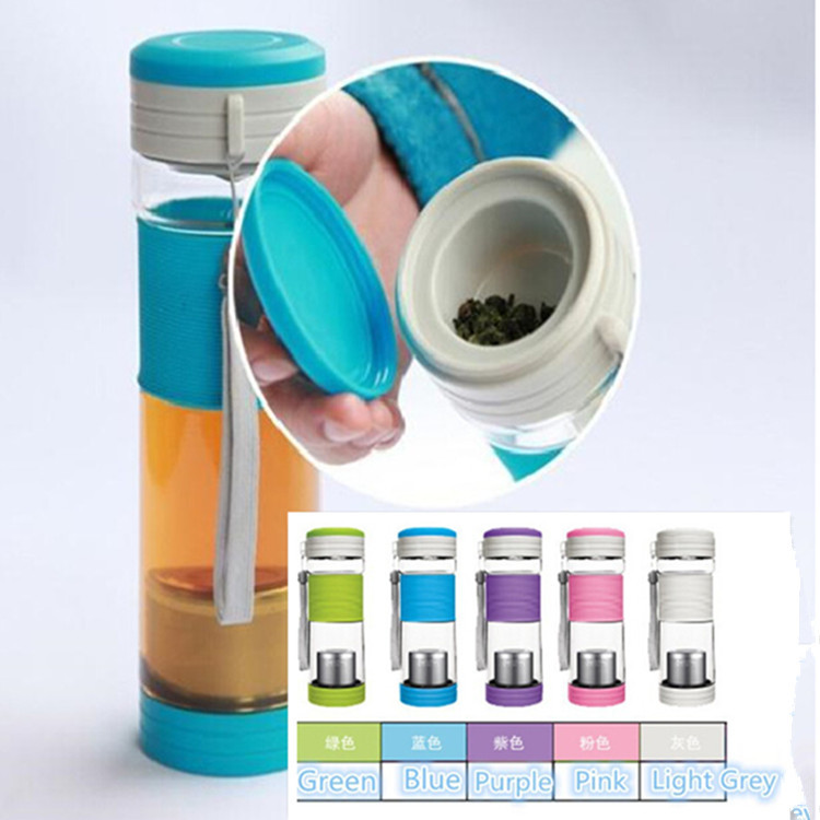 New Arrival 550ml My Bottle Travel Mug Tea infuser Cups Protein Shaker Thermos Tour Plastic Water Bottles with Lid and Rope(China (Mainland))