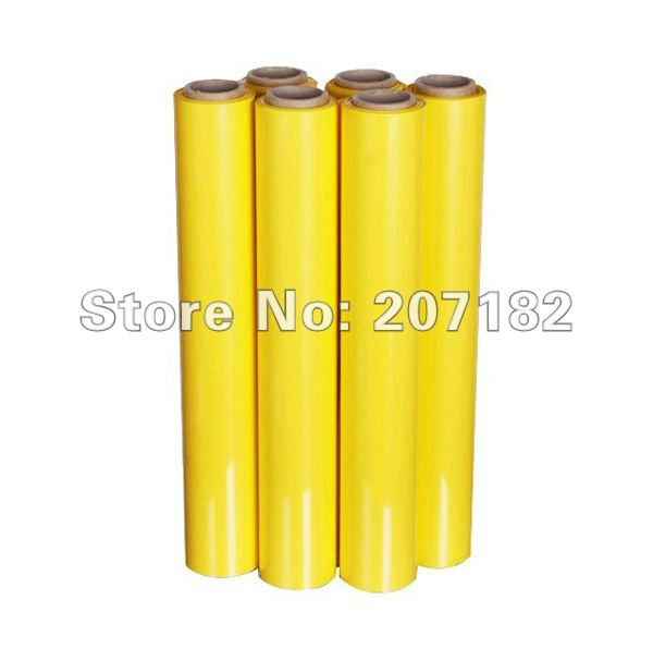Free Shipping 0.5*10m Yellow PU Vinyl Transfer Film,Cutting Plotter Film, Heat Transfer Film,Transfer Film(China (Mainland))