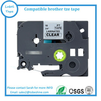 manufacturer direct selling compatible TZe-S141 TZ-S141 Black on Clear 18mm strong adhesive label tape for Ptouch label printer