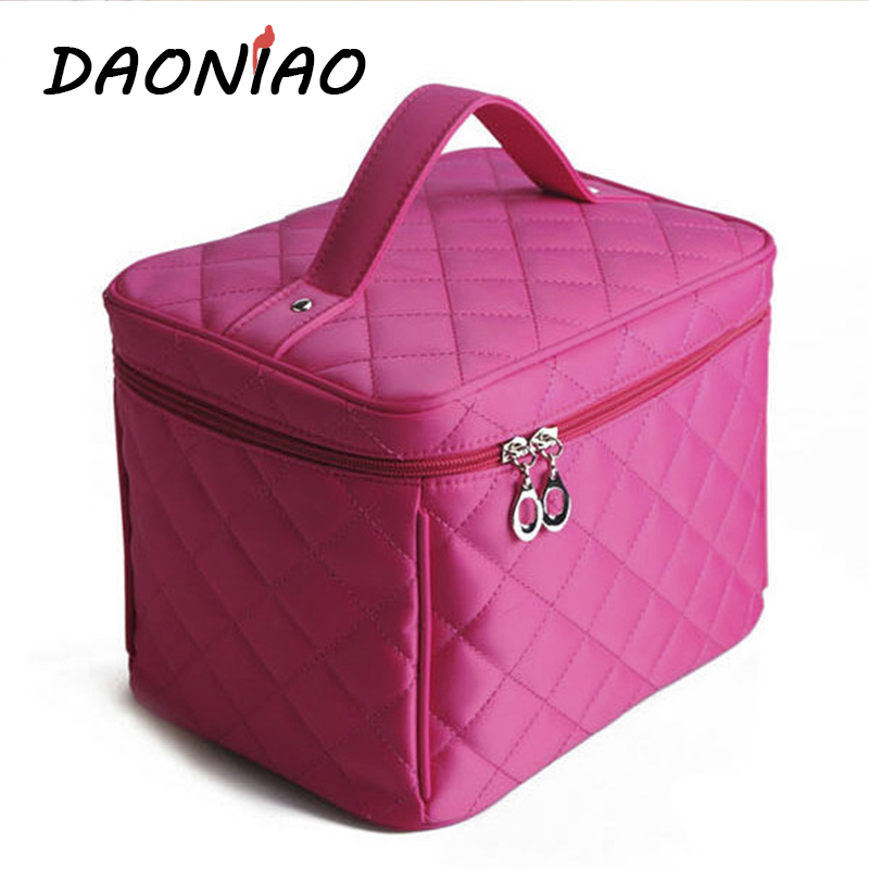 High Quality Solid PU Zipper Women Cosmetic Cases At Home Goods Makeup Storage Box Wash Supplies Travel Storage Cases #a0057(China (Mainland))
